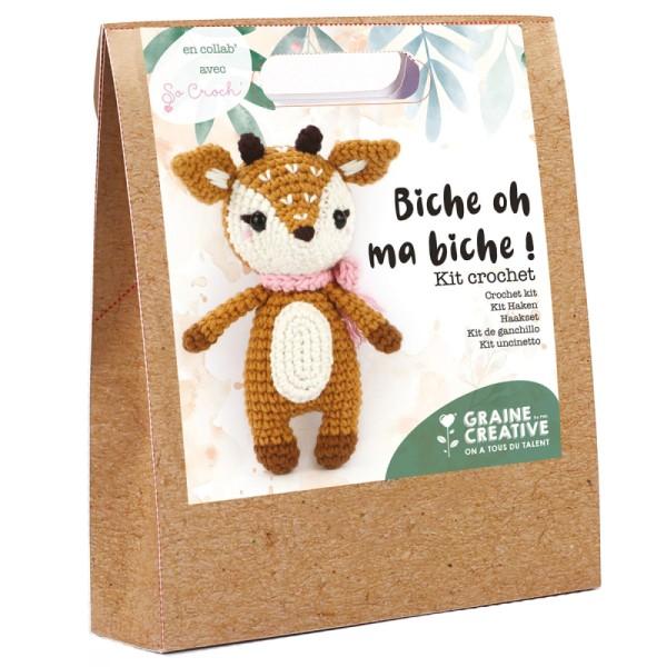 Kit crochet Biche - 17 cm - 12 pcs - Photo n°1