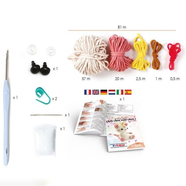 Kit crochet Chat licorne - 15 cm - 12 pcs - Photo n°2