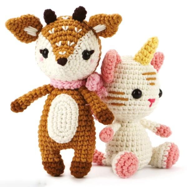Kit crochet Chat licorne - 15 cm - 12 pcs - Photo n°3