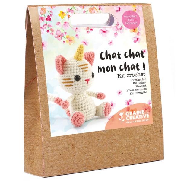 Kit crochet Chat licorne - 15 cm - 12 pcs - Photo n°1