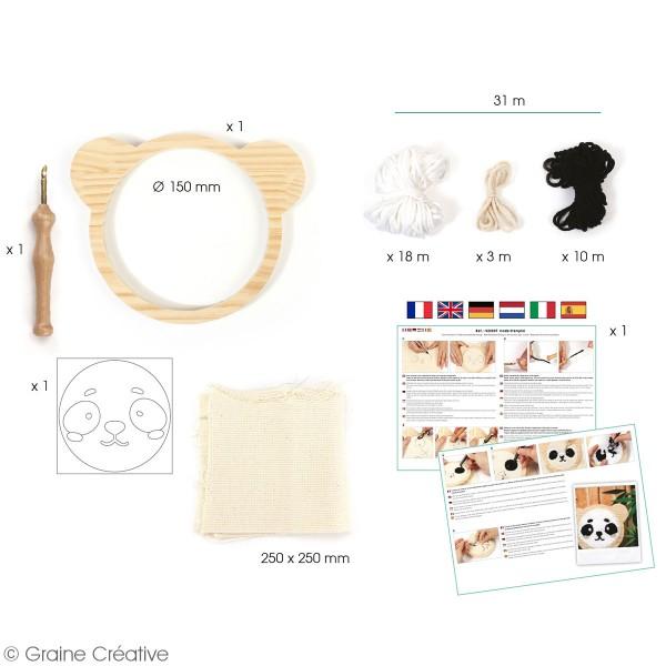 Kit punch needle - Panda - 15 cm - Photo n°2
