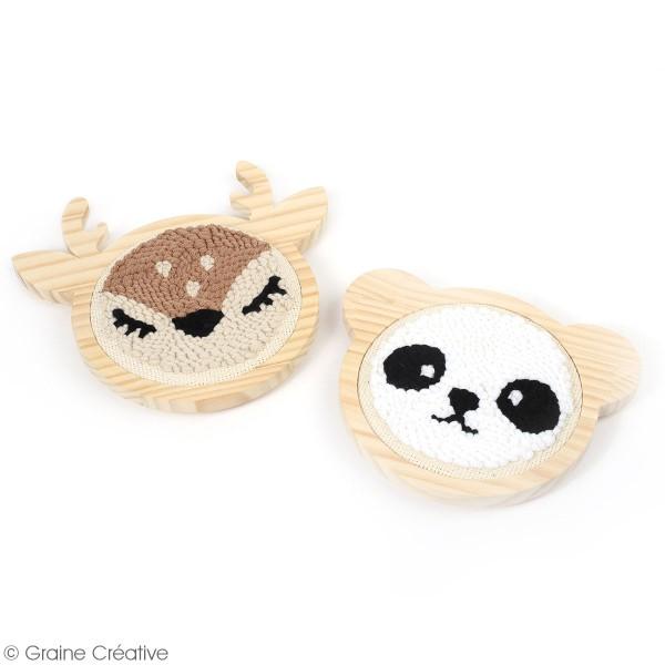 Kit punch needle - Panda - 15 cm - Photo n°3