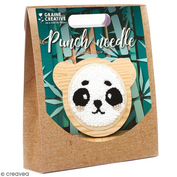 Kit punch needle - Panda - 15 cm - Photo n°1