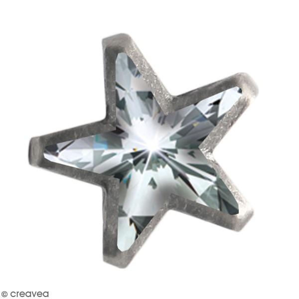 Clous à griffes étoiles - Argenté - 11 mm - 20 pcs - Photo n°1