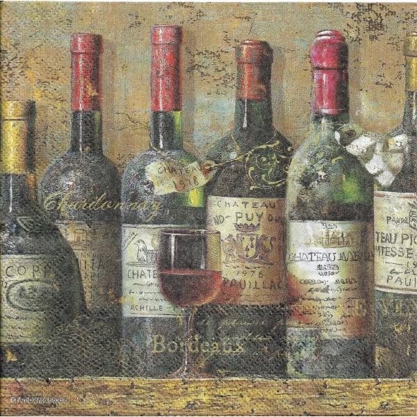 4 Serviettes en papier Vieux Vins Format Lunch Decoupage Decopatch 13312940 Ambiente - Photo n°1