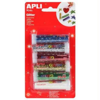 Tube de paillettes en poudre - APLI Kids - 6 tubes de 7 g