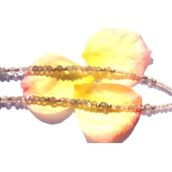 Collier pendentif et tour de cou en Labradorite multicolore 40 CM de tour de cou - Photo n°5