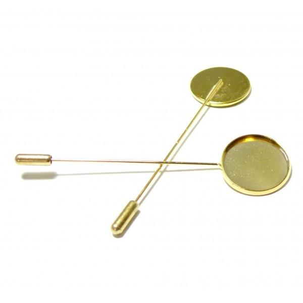 BN1123055 PAX 5 supports broches fibule couleur Doré 20mm qualité Laiton - Photo n°1