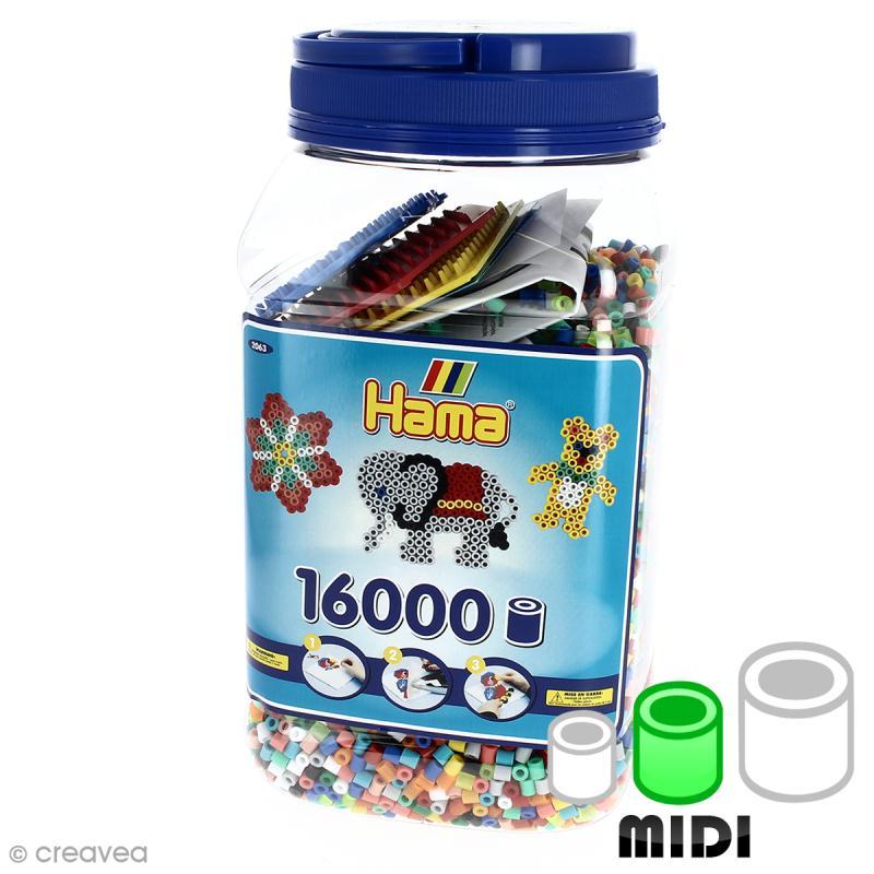 Perles à repasser 5 mm - Assortiment multicolore - 16 000 perles - Photo n°1
