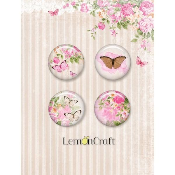 4 badges LemonCraft - Sweet Secrets - 2,5 cm - Photo n°1