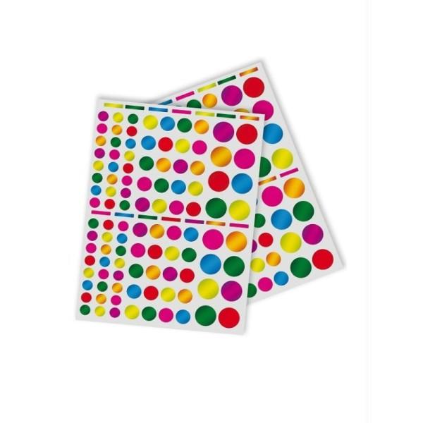 Gommettes rondes multicolores métallisées - APLI Kids - 624 pcs - Photo n°2