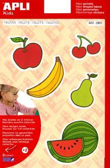 Maxi Gommettes fruits - APLI Kids - 24 pcs