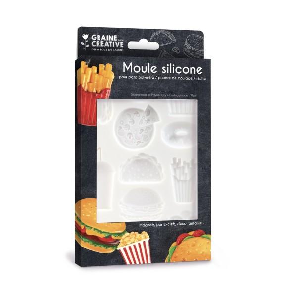 Moule En Silicone Junk Food 200x130mm - Photo n°1