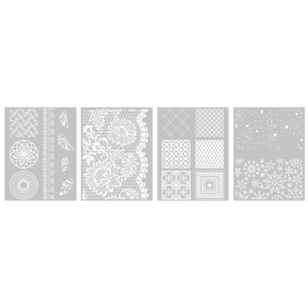 4 Pochoirs Déco dont 1 Offert pour Fimo, Cernit 114x153mm - Photo n°2