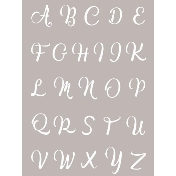 Pochoir Alphabet pour Fimo, Cernit 114x153mm - Photo n°1