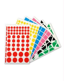 Gommettes géométriques multicolores - APLI - 350 pcs