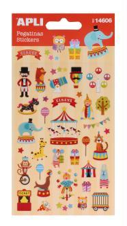 Stickers résine Cirque - APLI - 9,3 x 15 cm