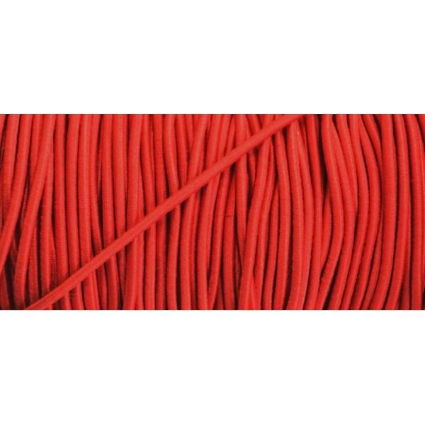 Cordon élastique rond rouge 3mm - Photo n°1