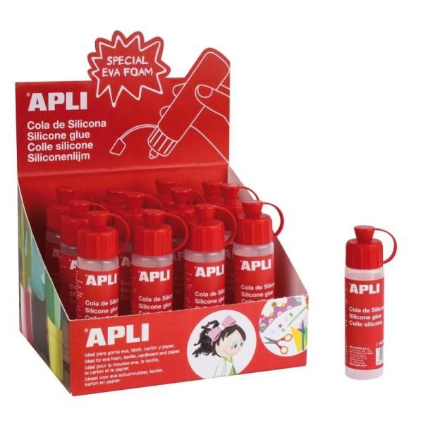 Colle silicone APLI 25 ml - vendu à l'unité - Photo n°1