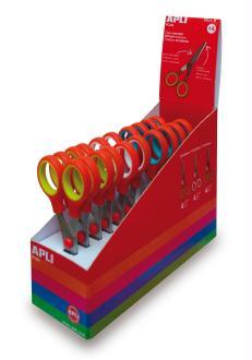 Ciseaux scolaires APLI Kids - 13 cm - Vendus à l'unité