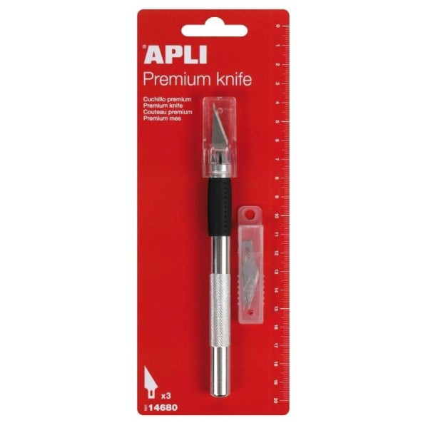 Scalpel Premium avec lames de rechange - APLI - Photo n°1
