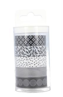 Masking tape Black & White - Artemio - 5 rouleaux assortis