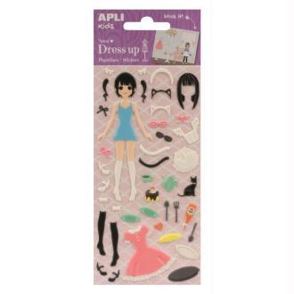 Stickers mousse Dress Up Anna - APLI Kids
