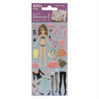 Stickers mousse Dress Up Emma - APLI Kids