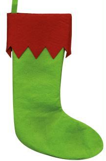 Chaussette de Noël en feutre - Artemio - 27,5 x 40 cm