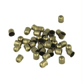 Embouts coquilles cylindriques Bronze 6 mm - Lucy by Artemio - 40 pcs