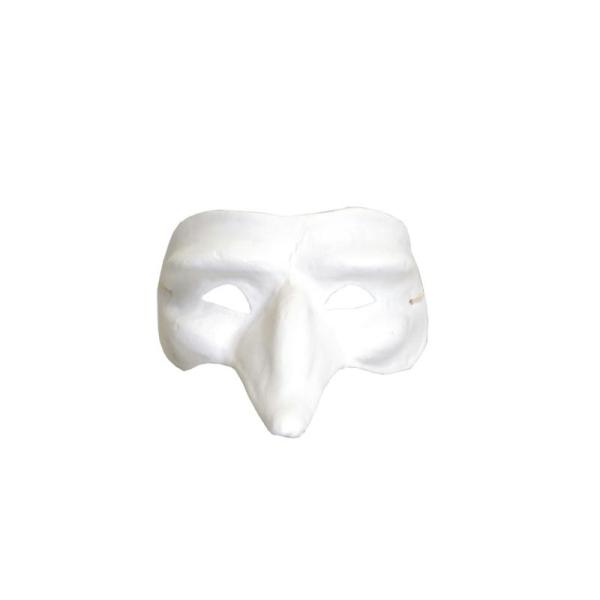 Masque à décorer finition plâtre - Loup long nez - Artemio - Photo n°1