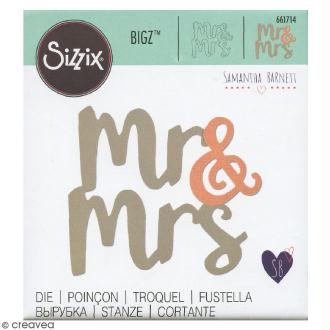 Matrice Sizzix Bigz - Monsieur et Madame - 1 pce