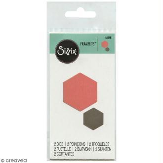 Matrice Sizzix Framelits - Petit hexagone - 2 pcs