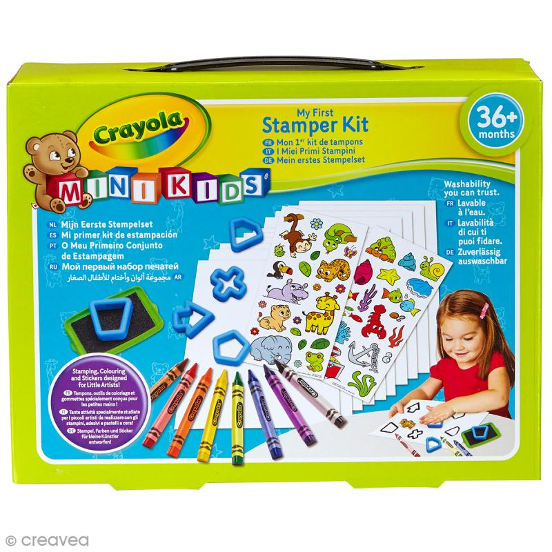 mon premier coffret de tampons crayola mini kids boutique acheter loisirs creatifs