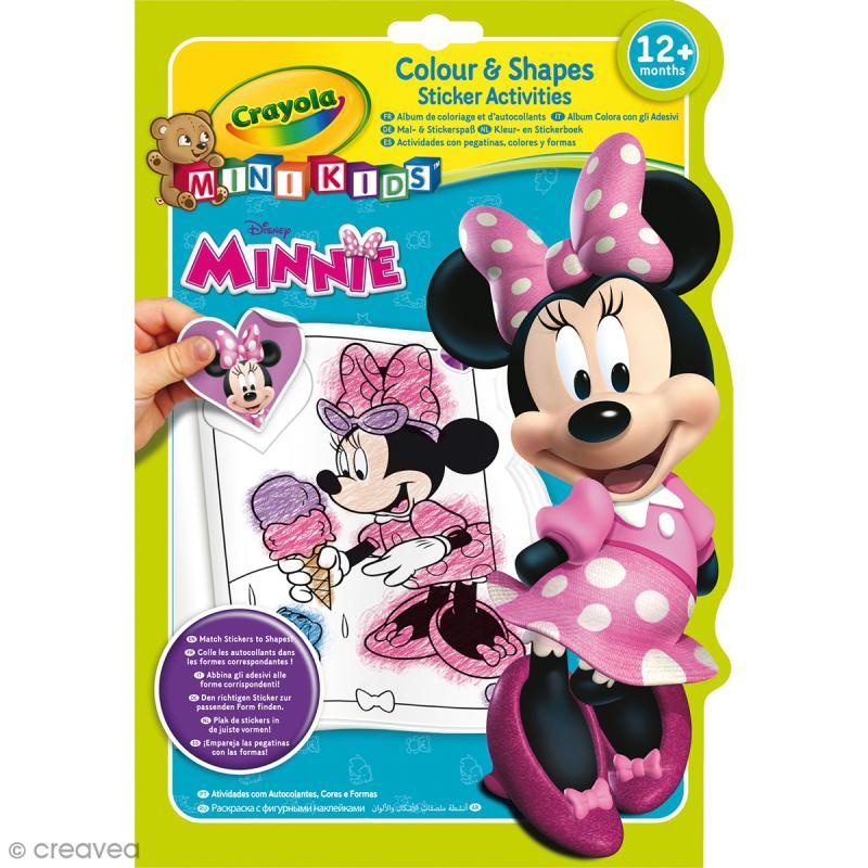 Album de coloriage et d'autocollants Crayola Mini Kids - Minnie - Cahier de coloriage - Creavea