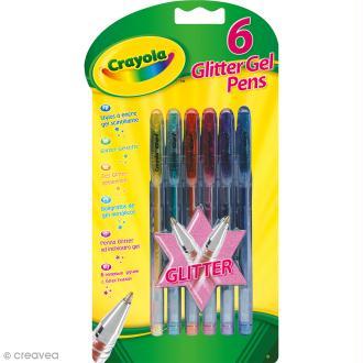 Stylos à encre gel scintillante Crayola - 6 stylos