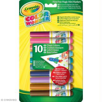 Mini feutres magiques Color Wonder Crayola - 10 feutres