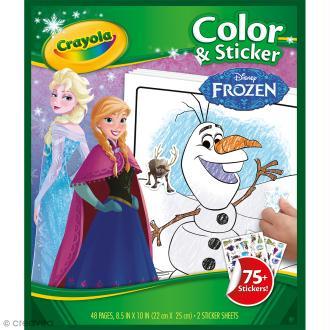 Pages à colorier et autocollants La reine des neiges - 22 x 25 cm - 48 pages