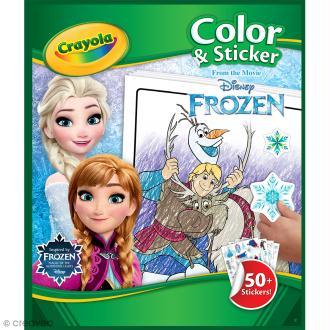 Album de coloriage et d'autocollants Crayola - La Reine des Neiges
