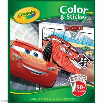 Album de coloriage et d'autocollants Crayola - Cars 3