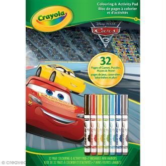 Album de coloriage et d'activités Cars 3 - 32 pages et 7 mini-feutres
