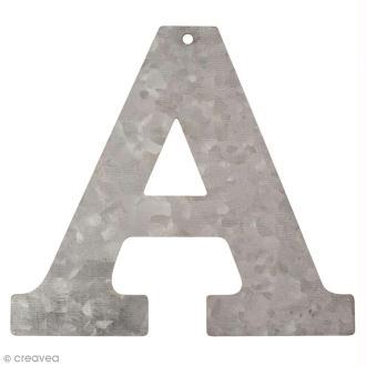 Lettre en métal galvanisé 12 cm - A