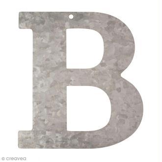 Lettre en métal galvanisé 12 cm - B