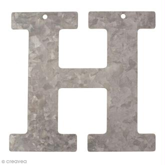 Lettre en métal galvanisé 12 cm - H