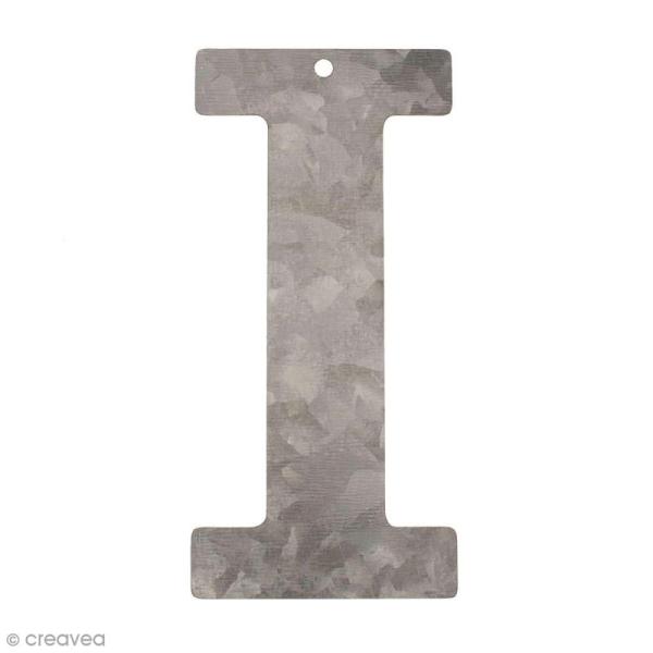 Lettre en métal galvanisé 12 cm - I - Photo n°1