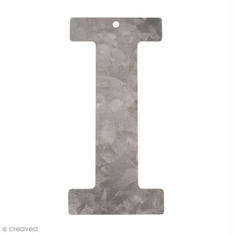 Lettre en métal galvanisé 12 cm - I