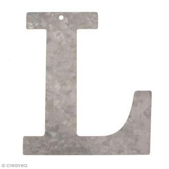 Lettre en métal galvanisé 12 cm - L
