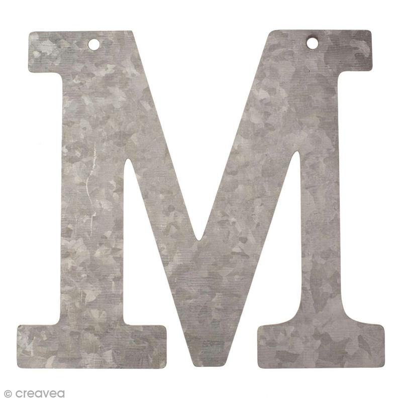 lettre en m tal galvanis 12 cm m lettre en m tal 12 cm creavea. Black Bedroom Furniture Sets. Home Design Ideas