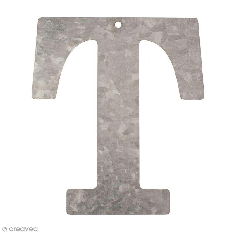lettre en m tal galvanis 12 cm t lettre en m tal 12 cm creavea. Black Bedroom Furniture Sets. Home Design Ideas