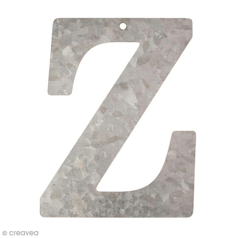 lettre en m tal galvanis 12 cm z lettre en m tal 12 cm creavea. Black Bedroom Furniture Sets. Home Design Ideas